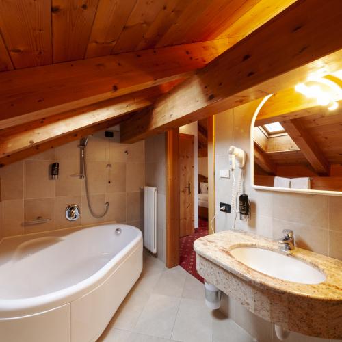 Bagno Junior Suite Lagorai Hotel Tirol